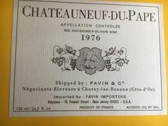 2496 -  Châteauneuf-du-Pape Etiquette Pour Export USA - Côtes Du Rhône