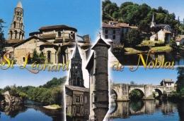 87 - Saint Léonard De Noblat -  Multi Vues - 5 Vues - Cpm - Pas écrite - - Saint Leonard De Noblat
