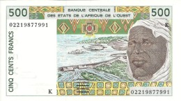 SENEGAL 500 FRANCS  2002 UNC P 710K M SIGN31 - Senegal