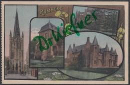 RUMBEKE, Westflandern, Schloss, Kirche, Um 1908 - Castles