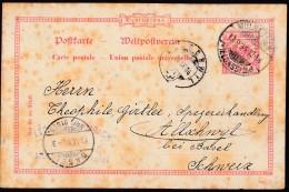 DR P 25 /01 Gestempelt: Mülhausen Elsass 13.9.1894 Nach Allachwil Bei Basel, DD 194i - Allemagne