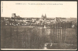 Loches Vue Générale Prise De Beaulieu Prairie Inondée éditeur T. Bardou Souvenir Des Grandes Manœuvres Du Sud-oues - Loches