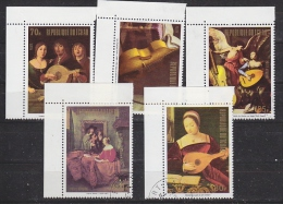 Tchad 1973 Paintings 5v Used (27274) - Tsjaad (1960-...)