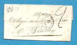 Lot Et Garonne -Casteljalloux Pour Holagray à Bordeaux. LAC De 1850 écrite à Houeillès - 1849-1876: Période Classique