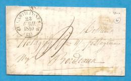 Lot Et Garonne -Castillonnes Pour Holagray à Bordeaux. LAC De 1840 - Marcophilie (Lettres)