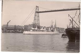 CPA Carte Photo Navire De Guerre Contre Torpilleur Le Bison Et Le Mascara Port De Rouen 1929 1932 Photo N° 34 - Rouen