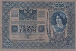 Austria 1919 - österreichisch Ungarische Nationalbank - 1000 Kronen - Autriche