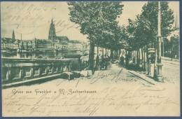 Gruss Aus Frankfurt A. M. Sachsenhausen Dreikönigskirche, Gelaufen 1902 (AK979) - Frankfurt A. Main