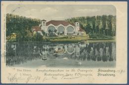 Straßburg Hauptrestauration In Der Orangerie, Gelaufen 1901 (AK973) - Elsass