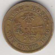 @Y@    Hong Kong   10  Cents  1956    (3738) - Hong Kong