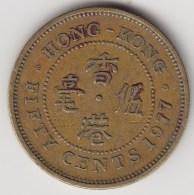 @Y@    Hong Kong   50  Cents  1977    (3740) - Hong Kong