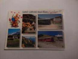 Dep 74 Saint Gervais  Au Pays Du Mont Blanc ( Tramway Du Mont Blanc ) - Zonder Classificatie