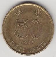 @Y@    Hong Kong   50  Cents  1998    (3744) - Hong Kong