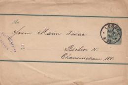 Deutsche Reichspost 1886, 3 Pfg Ganzsache Auf Zeitungsschleife, Stempel Lübeck Gelaufen Nach Berlin
