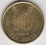 @Y@    Hong Kong   10  Cents  1998    (3746) - Hong Kong