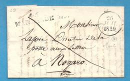 Lot Et Garonne - Marmande Pour Le Directeur De La Poste Aux Lettres à Nogaro. LAC En Franchise. - Marcophilie (Lettres)