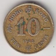 @Y@    Hong Kong   10  Cents  1983    (3755) - Hong Kong