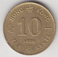 @Y@    Hong Kong   10  Cents  1986    (3757) - Hong Kong