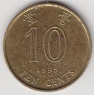 @Y@    Hong Kong   10  Cents  1995    (3760) - Hong Kong