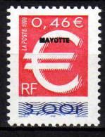Mayotte N° 77  XX  Le Timbre Euro Sans Charnière TB