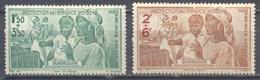 Guadeloupe Poste Aérienne YT N°1/2 Protection De L'enfance Indigène Neuf/charnière * - Guadeloupe (1884-1947)