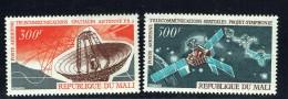 1970  Communications Spatiales: Antenne Terrestre, Satellite Symphonie - Espace - Poste Aérienne  ** - Mali (1959-...)