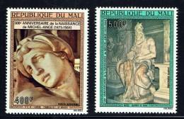 1975  Michelange  Sculptures: Aurore, Moïse   Poste Aérienne  ** - Mali (1959-...)