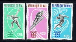 1976  Jeux Olympiques D'hiver  Innsbruck  Patinage Artistique, Saut à Ski, Slalom  Poste Aérienne  ** - Mali (1959-...)