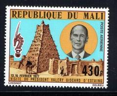 1977  Visite Du Président Valéry Giscard D'Estaing   Poste Aérienne  ** - Mali (1959-...)