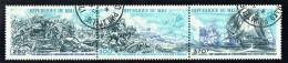 1976  Bicentenaire Des USA - Scènes De Batailles - Bande De 3 Timbres  Poste Aérienne  Oblitérés - Mali (1959-...)