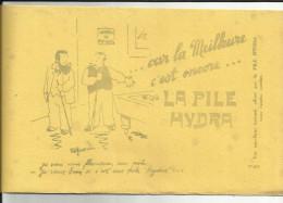"""Buvard - """" La Pile Hydra """" - Partie De Billard - Boules - Queues- - Belle Vignette- Réf.02 - Electricité & Gaz"""