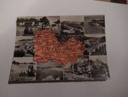 Carte Geographique Departement Des Cotes Du Nord 22  Multivues - Non Classés