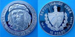 CARIBBEAN 10 P 2003 ARGENTO PROOF 999 SILVER CHE GUEVARA RARE PESO 20g TITOLO 0,999 CONSERVAZIONE FONDO SPECCHIO UNC. - Cuba