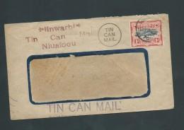 Tonga 1969 Inward Tin Can Cover With Late Use Of 1942 1d Tree Definitive - Tonga (1970-...)