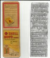 Calendrier 1930 - Carnet Pub. Schell-Moto-Naphta-Huile Pompe à Essence - - Calendriers