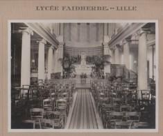 Lycée Faidherbe Lille (59) Chapelle Du Lycée 1933,  Ph Pasquero Lille Collée Sur Carton - Photos