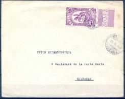 ETIOPIA , AÑO 1935 , SOBRE CIRCULADO ENTRE ADDIS - ABEBA Y MULHOUSE . - Ethiopie
