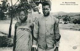Moyen Congo Milicien Yakoma Et Sa Femme - Congo Belge - Autres
