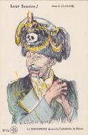 Cpa-militaria-illustrateur Leandre 1914-leur Sourire-kronprinz Devant La Cathedrale-satirique-propagande-caricature-n°44 - Humoristiques