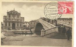 VENEZIA XXVI Riunione S.I.P.S.1937 - Ann. Speciale (12.9) Su Cartolina Non ViaggiATA, - Marcophilie
