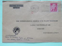USA 1950 Cover Ann Arbor To Holland - Botany - Jefferson - Perfin - Etats-Unis