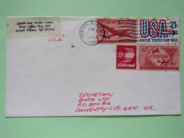 USA 1990 Cover Newark To England - Plane Air Mail - Etats-Unis