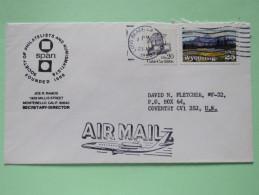 USA 1990 Cover Long Beach To England - Wyoming Plane - Cable Car - Etats-Unis