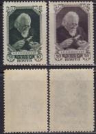 1(442). Russia USSR 1947 Geologist Alexander Petrovich Karpinsky, MH (*) Michel 1081-1082 - 1923-1991 USSR