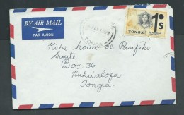 Tonga 1969 Local Cover With 1S Decimal Overprint - Tonga (1970-...)