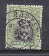 Southern Rhodesia / B.S.A.Co., 1913 Admiral, 5d Black & Green, Die I, Perf 14, C.d.s. Used GADZEMA - Southern Rhodesia (...-1964)