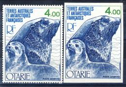 TAAF Posta Aerea 1978 N.54 F. 4 MNH Con Gemello NON Dentellato. Catalogo € 24,50 - Non Dentellati, Prove E Varietà