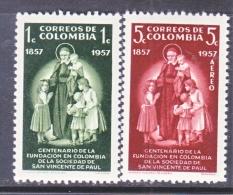 COLUMBIA  678, C 304   *  RELIGION  ST. VINCENT De PAUL - Colombia