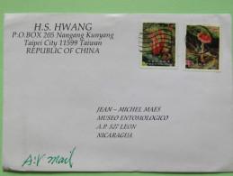 Taiwan 2012 Cover To Nicaragua - Mushrooms - 1945-... Republic Of China