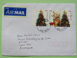 Australia 2011 Cover To Nicaragua - Christmas Tree And Gifts - 2010-... Elizabeth II
